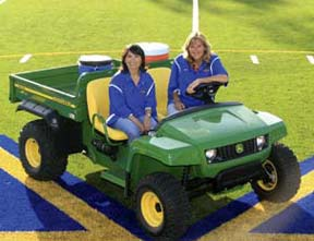 Boosters in Golf Cart on Field
